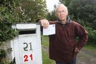 Russ Sadler's property number changed last year as a result of a switch to the RAPID (Rural Address Property Identification) system. Photo / Wairarapa Times-Age