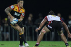 Sonny Bill Williams of the Chiefs looks to pass during the round 11 Super Rugby match between the Chiefs and the Lions. Photo / Getty Images.