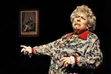 British actor Miriam Margolyes in Dicken