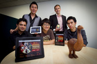 Moa Creative (from left) Rohan deSouza, Moon Kim, Jay Moon, Andrew Malcolm and Charles Wang, landed a US contract last year. Photo / Natalie Slade