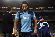 Ma'a Nonu leaves the field after Friday's defeat to the Reds. Injury could rule him out of this week's match against the Hurricanes in Wellington. Photo / Getty Images
