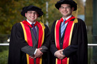 Brothers Salim (left) and Hazim Namik have just graduated with a doctorate in Engineering from Auckland University.  Photo / Natalie Slade