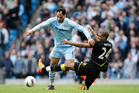 Manchester City's Joleon Lescott, left. Photo / AP