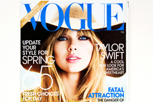 Taylor Swift on the cover of Vogue. Photo / File