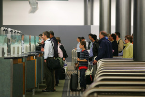 The International Arrivals and Customs Immigration area at Auckland International Airport. file photo /  Brett Phibbs