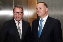 Prime Minister John Key with Act MP John Banks before their coalition talks at the Beehive. Photo / Mark Mitchell