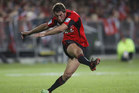 Tom Taylor is kicking at 92 percent in this year's Super Rugby competition. Photo / Getty Images.
