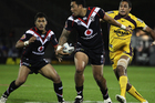 Feleti Mateo of the Warriors makes a break during the round nine NRL match between the New Zealand Warriors and the Brisbane Broncos at Mt Smart Stadium. Photo / Getty Images.
