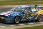 Mark Winterbottom of the Orrcon Steel FPR Ford team drives during race one of the V8 Supercars. Photo / Getty Images.