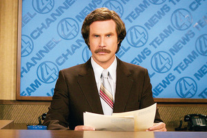 The Anchorman 2 sequel is only five pages long. Photo / Supplied