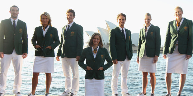 Critics say the new Australian Olympic uniforms unveiled today make the team look like lawn bowlers. Photo / Getty Images.