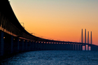The four-kilometre-long Oresund Bridge links Copenhagen in Denmark with Malmo in Sweden. Photo / Thinkstock