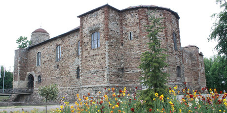 Colchester Castle, built on the ruins of a Roman temple, is now a museum. Photo / Jim Eagles