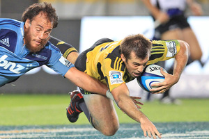 The Hurricanes are the leading try-scorers in the competition. Photo / Greg Bowker