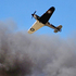 A WWll Hawker Hurricane takes part in a mock battle during the Warbirds Over Wanaka airshow. Photo / Getty Images