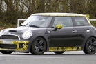 The disguised JCW Grand Prix Mini in action. Photo / Supplied