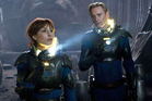 Noomi Rapace and Michael Fassbender in a scene from Prometheus. Photo / Supplied