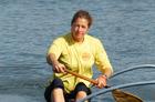 Alone, paddling her waka on Lake Rotoiti, is pure peace for Sarah Uhl. Photo / Supplied
