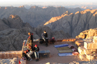 On Mount Sinai, blankets - pre-loved by camels - are available for rent for those wanting to stay the night and watch the sunrise. Photo / Supplied
