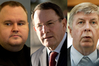 Kim Dotcom, John Banks and Maurice Williamson. Photos / Brett Phibbs, Jason Dorday, Getty Images