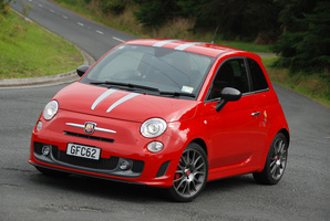 The Abarth 695 Tributo Ferrari has gunshot acceleration. Photo / Jacqui Madelin