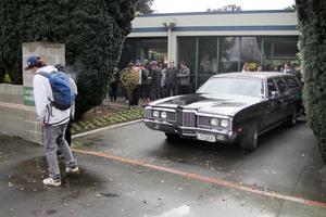 Darius Claxton was farewelled yesterday. Photo / APN