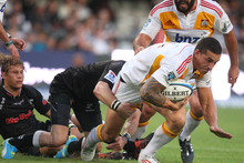 Sonny Bill Williams during the 2012 Super Rugby match between The Sharks and Chiefs from Mr Price Kings Park. Photo / Getty Images