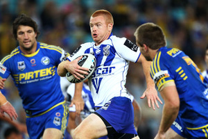 Kris Keating of the Eels makes a line break during the round nine NRL match between the Parramatta Eels and the Canterbury Bulldogs. Photo / Getty Images