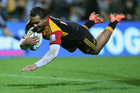 Lelia Masaga of the Chiefs dives in for a try. Photo / Getty Images