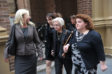 Vivienne Wighton leaves the NSW Supreme Court after testifying. Photo / AAP