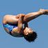 Huixia Lu, of China, performs during the women's 10-meter platform semifinals at the USA Diving Grand Prix in Fort Lauderdale. Photo / AP