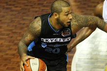 Power forward BJ Anthony has been released from his contract with the Australian basketball league champion SkyCity Breakers. Photo / Greg Bowker.