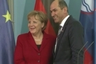 German Chancellor Angela Merkel reiterated on Wednesday that European Union countries that have signed the bloc's fiscal pact for greater budgetary discipline must stick to what they have agreed.