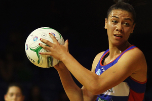 Grace Rasmussen of the Mystics looks to pass the ball out. Photo / Getty Images.