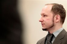 Anders Behring Breivik. Photo / AP 