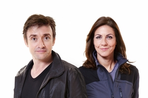Presenters Richard Hammond and Julia Bradbury. Photo / Supplied