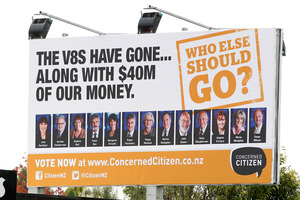 Ray Stark intends to take his billboard campaign to other cities around New Zealand he has connections with. Photo / Christine Cornege