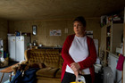 Julie Williams lives in her garage to ensure EQC cover. Photo / Martin Hunter