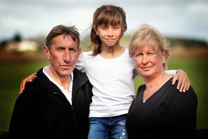 Lewis, Briana and Joanne Ineson. Photo / Doug Sherring