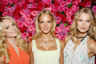 Victoria's Secret models, (l-r) Lindsay Ellingson, Erin Heatherton, and Toni Garrn.