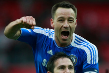 Chelsea captain John Terry (top) celebrates. Photo / AP