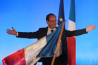 President-elect Francois Hollande waves after delivering his speech in Tulle, central France. The euro has dropped off the back of defeats by the ruling parties in France and in Greece. Photo / AP