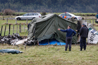A fatal aeroplane accident at the Fox Glacier airfield in South Westland. Photo / Sarah Ivey