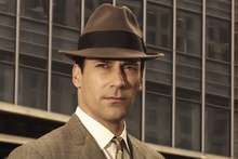 Jon Hamm as the dapper Don Draper in Mad Men. 