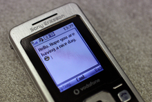 Text messaging is impossible to avoid these days, as it marks its 20th anniversary. Photo / Sarah Ivey 