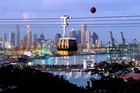 A cable car to Sentosa Island, Singapore. Photo / Singapore Tourism Board