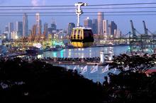 A cable car to Sentosa Island, Singapore. Photo / Singapore Tourism Board