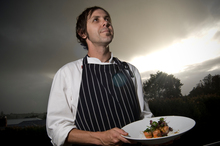Chef Simon Mason is a proud dad and a damn good cook. Photo / Michael Craig