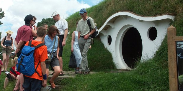 Thousands of tourists have been drawn from around the world to locations such as Hobbiton, in Matamata. Photo / Supplied