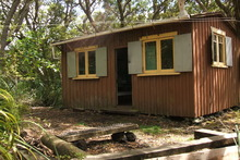 Scoutsville, a bach built almost a century ago on Rangitoto Island. Photo / Supplied